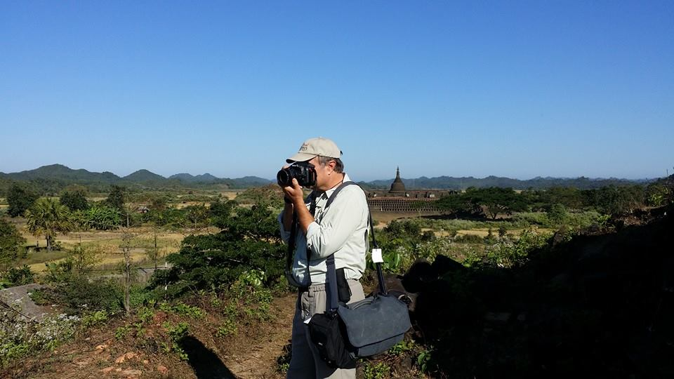 David using the Think Tank Retrospective 7 on his recent photo tour to Cambodia and Myanmar. Photo by Ed Reinke.
